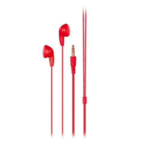 Fone de Ouvido Play Som Estéreo Vermelho - Multilaser