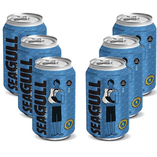 Pack 6 Cervejas 4 Islands Seagull Pale ALE 350ml