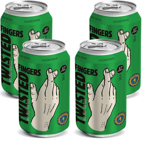 Pack 4 Cervejas 4 Islands Twisted Fingers Coconut Milk Stout 350ml