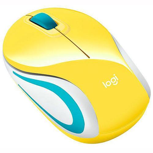 Mini Mouse Wireless Óptico 1.000dpi M187 Amarelo - Logitech