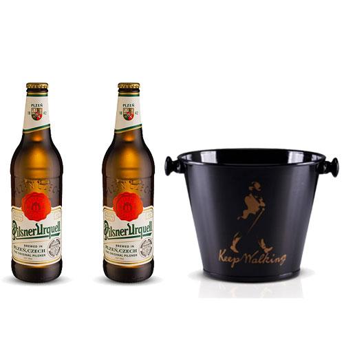 Pack 2 Cervejas Pilsner  500ml + Balde para Cerveja em Alumínio 5L Keep Walking