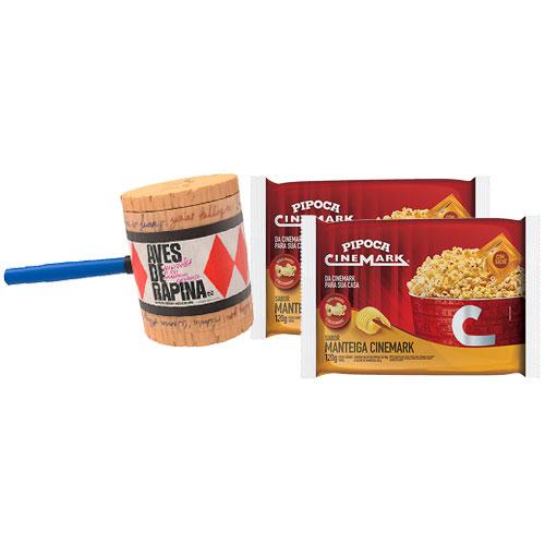 Combo 2 Pipocas para Micro-ondas Sabor Manteiga 120g Cinemark + Balde para Pipoca - Filme: