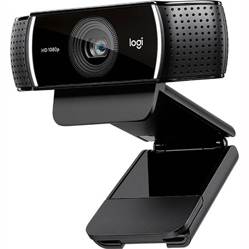 Câmera Webcam Full HD Pro Stream 1080p C922 Preta - Logitech