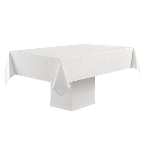 Toalha de Mesa Faenza Branca Retangular p/ Mesas de 8 Lugares 160 x 270cm - Karsten