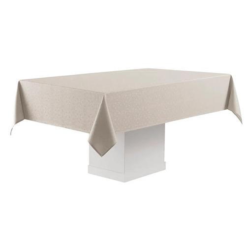 Toalha de Mesa Faenza Bege Retangular p/ Mesas de 8 Lugares 160 x 270cm - Karsten