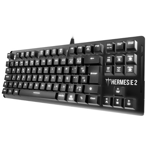 Teclado Hermes E2 Led White Br Brown - Gamdias