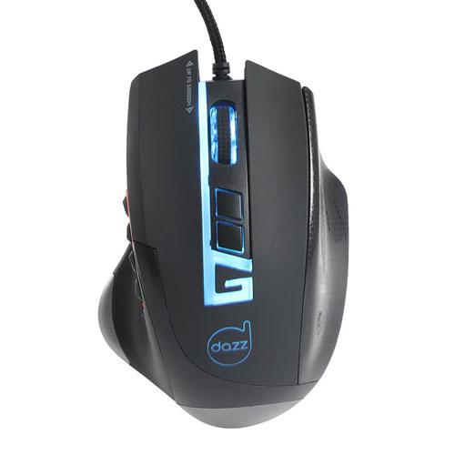 Mouse Gamer Moba Pro 5000 Dpi Usb 2.0 Preto - Dazz