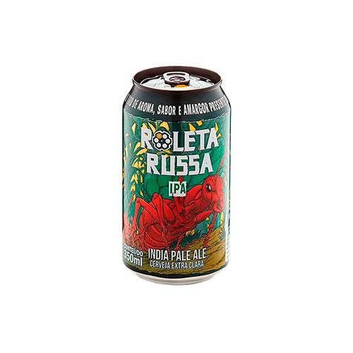 Cerveja Artesanal Roleta Russa IPA Lata 350ml
