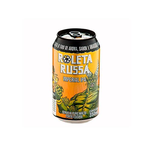Cerveja Artesanal Roleta Russa Imperial IPA Lata 350ml