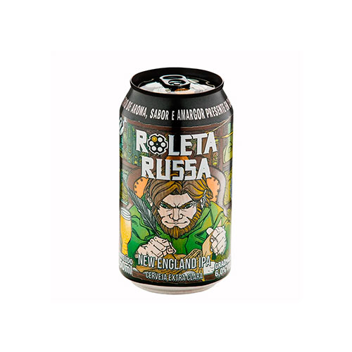 Cerveja Artesanal Roleta Russa New England IPA Lata 350ml