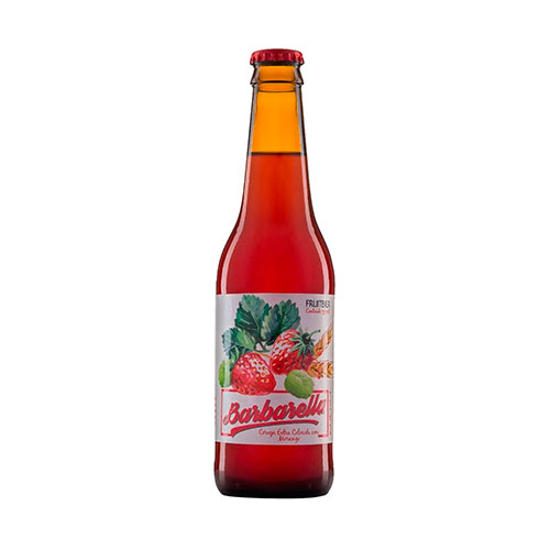 Cerveja Artesanal Barbarella Fruitbier Morango 355ml