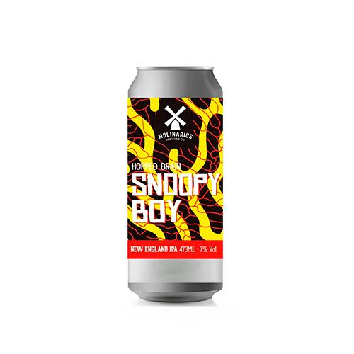 Cerveja Artesanal Molinarius Snoopy Boy NEIPA Lata 473ml