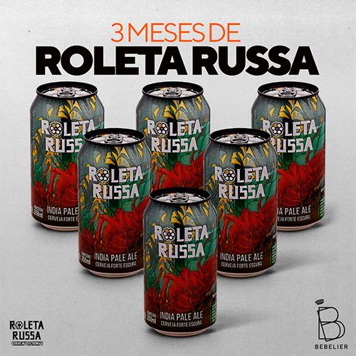 Assinatura Clube de Cerveja Roleta Russa com 6 latas - Plano Trimestral - Bebelier