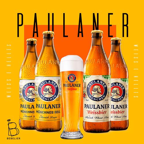 Assinatura Clube de Cerveja Paulaner com 4 garrafas - Plano Trimestral - Bebelier