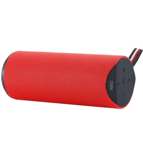 Caixa de Som Portátil Speaker Spool com Bluetooth 20W RMS USB Vermelha - OEX