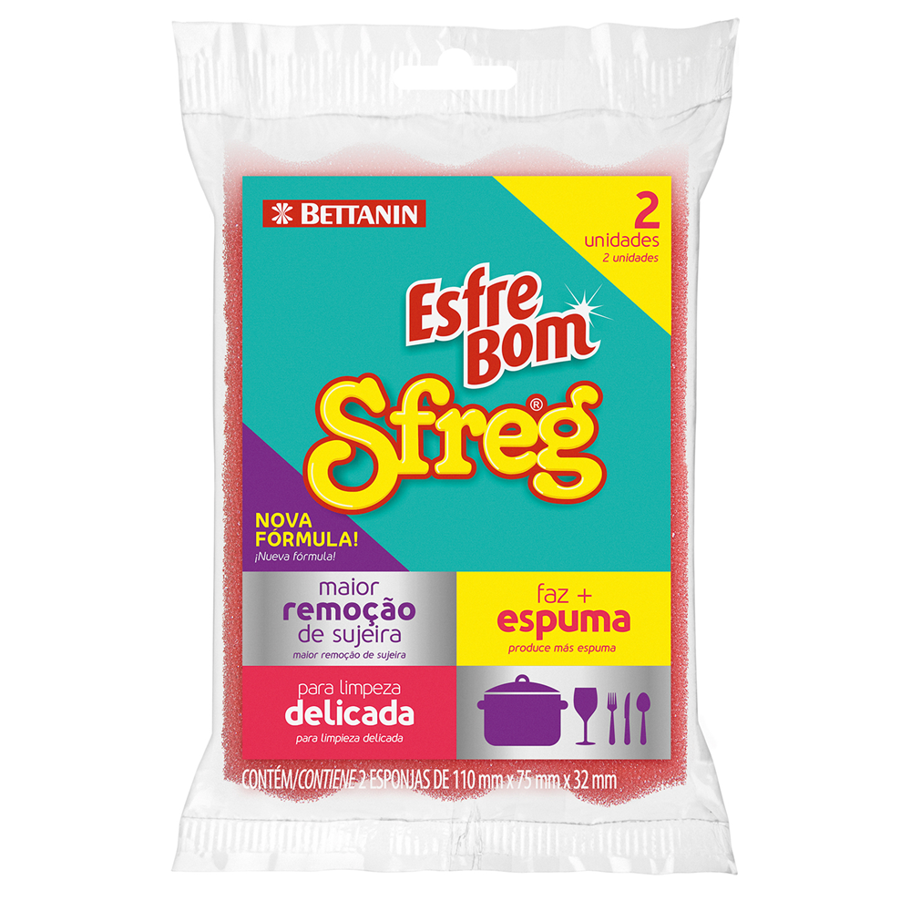 Pack de Esponjas Dupla Face Sfreg EsfreBom 2un - Bettanin