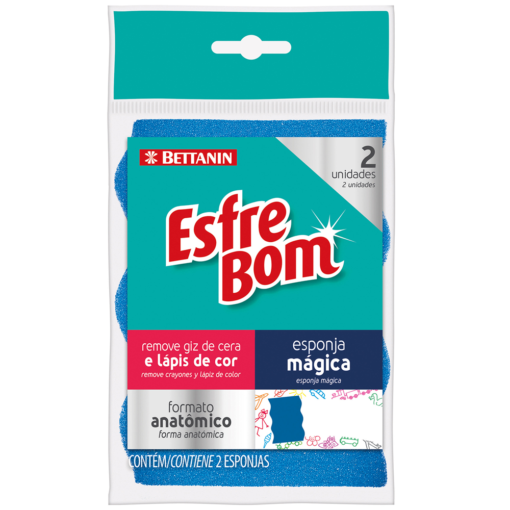 Pack de Esponjas Mágicas EsfreBom 2un - Bettanin