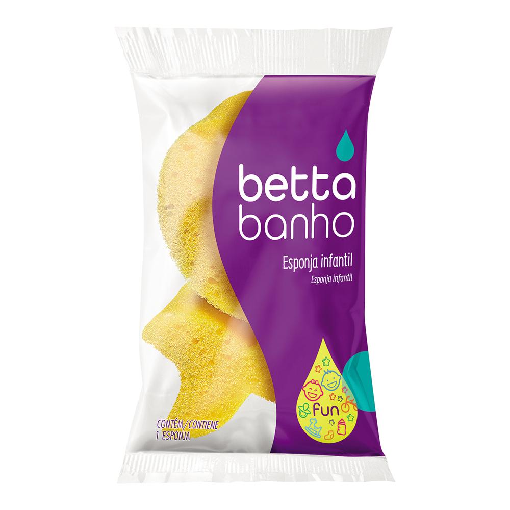 Esponja de Banho Infantil Slow Fun BettaBanho Amarela - Bettanin