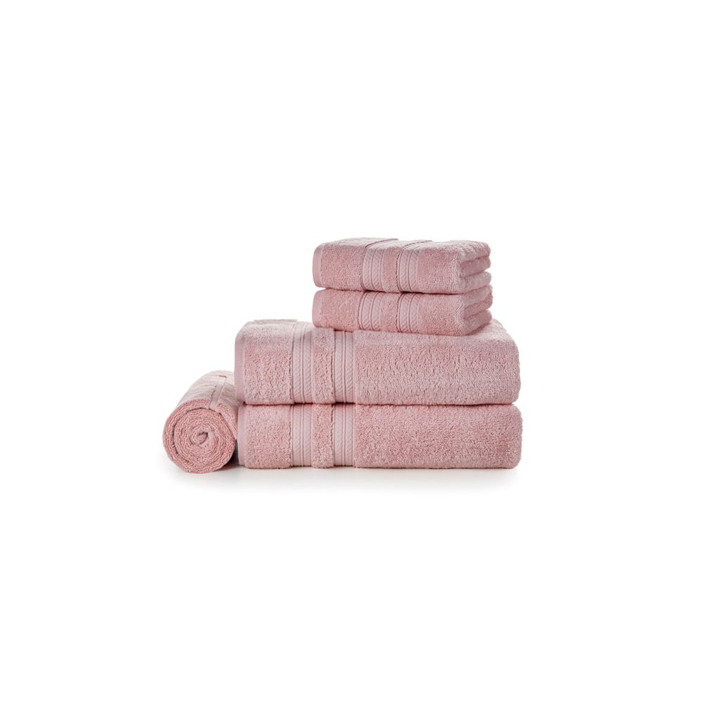 Jogo de Banho 100% Algodão Unika Lady Pink 5pçs - Karsten