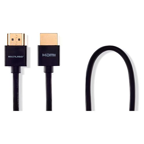 Cabo de Vídeo HDMI Ultra Slim 19 Pinos com Conector Banhado - 3,0 Mts - Multilaser