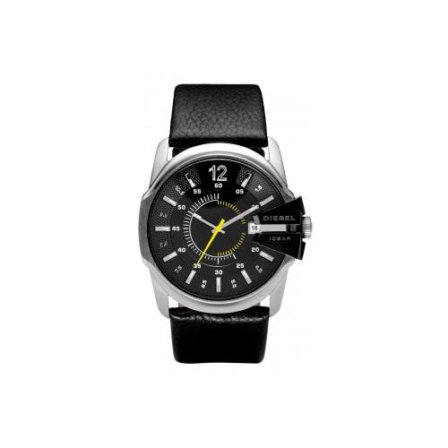 Relógio Masculino Preto Pulseira em Couro e Caixa em Aço - Diesel