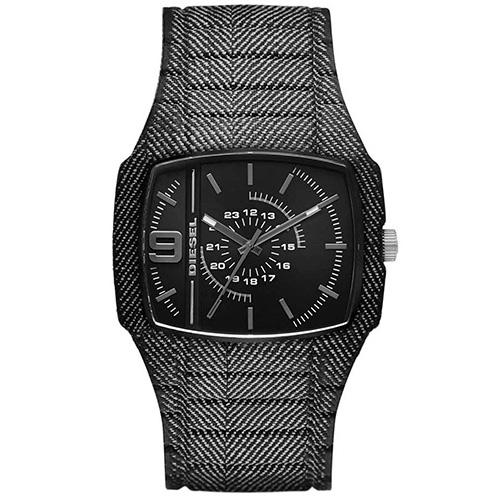 Relógio Masculino Preto Pulseira em Silicone e Caixa em Plástico - Diesel