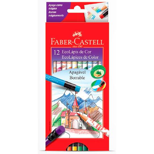 Lápis de Cor 12 Cores Apagável - Faber-Castell