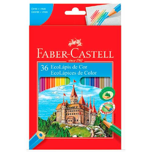 Lápis de Cor 36 Cores Sextavado - Faber-Castell