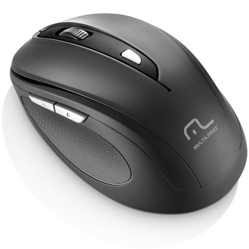 Mouse sem Fio 2.4 Ghz Comfort USB 6 Botões Preto - Multilaser