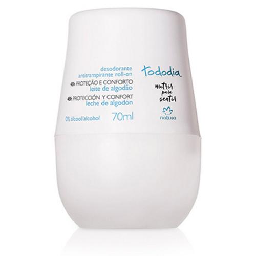 Desodorante Antitranspirante Roll-on Leite de Algodão Tododia 70ml - Natura