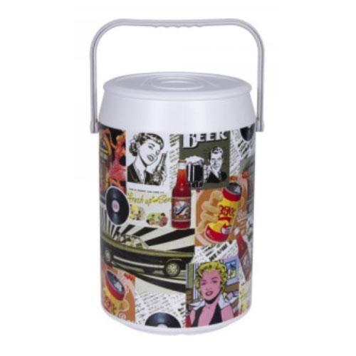 Geladeira Cooler Veleiro Retrô Color 42 Latas - Anabell