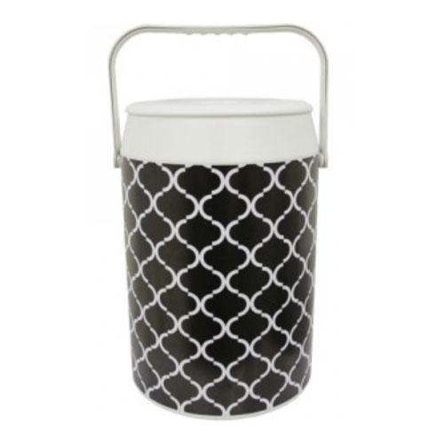 Geladeira Cooler Empório Black  White 42 Latas - Anabell