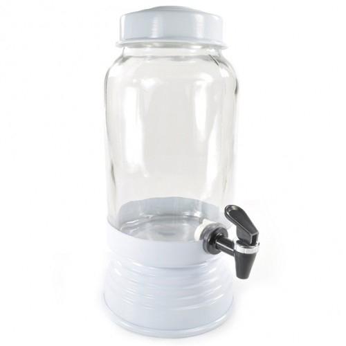 Suqueira de Vidro 3,250L Branca - Anabell