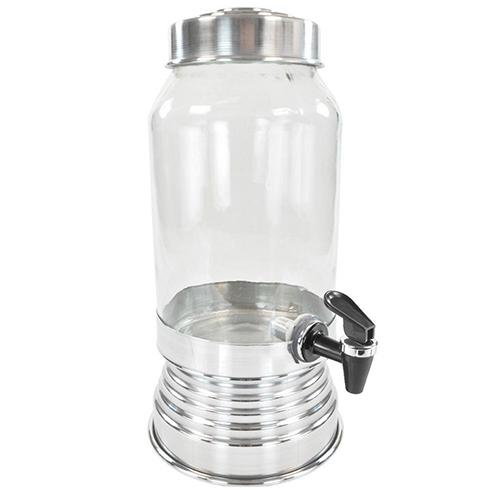 Suqueira de Vidro 3,250L Prata - Anabell