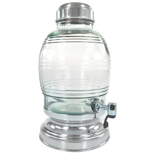 Suqueira de Vidro 5,400L Prata - Anabell
