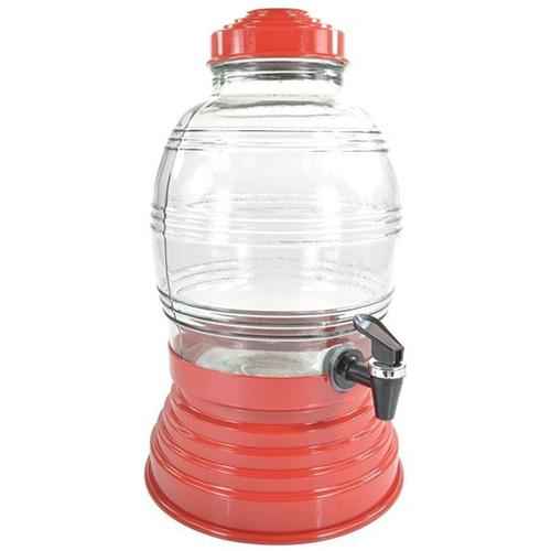 Suqueira de Vidro 5,400L Vermelha - Anabell