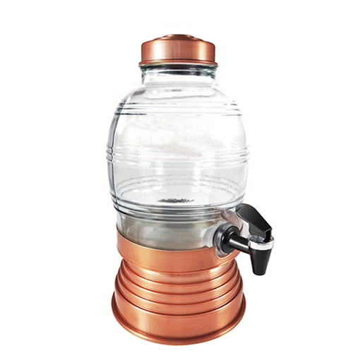 Suqueira de Vidro 5,400L Cobre - Anabell
