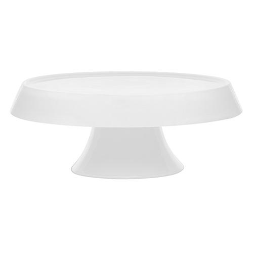 Prato para Bolo de Cerâmica 27cm Branco - Oxford