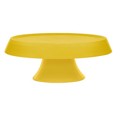 Prato para Bolo de Cerâmica 27cm Amarelo - Oxford