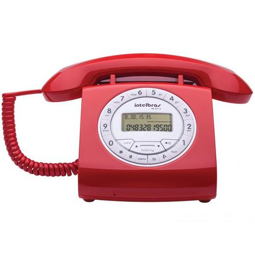 Telefone de Mesa com ID e Viva-Voz Retro Vermelho - Intelbras