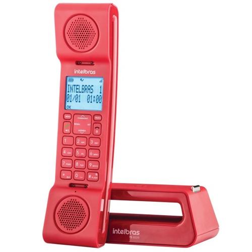 Telefone sem Fio Digital com ID e Viva-Voz Vermelho - Intelbras