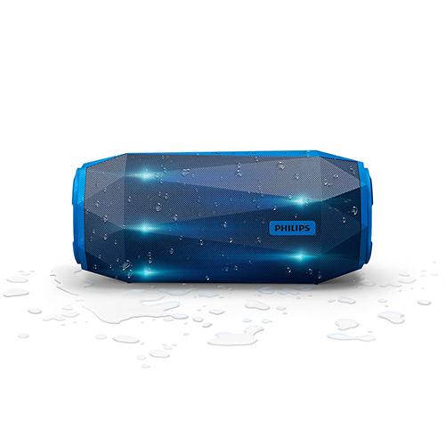 Alto-falante Portátil Bluetooth ShoqBox Antichoque e à Prova Dágua 30W Azul - Philips