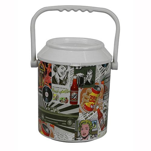 Geladeira Cooler Quiosque Retrô Color 10 Latas - Anabell